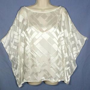 WHITE HOUSE BLACK MARKET Kimono Top Blouse 2325E2